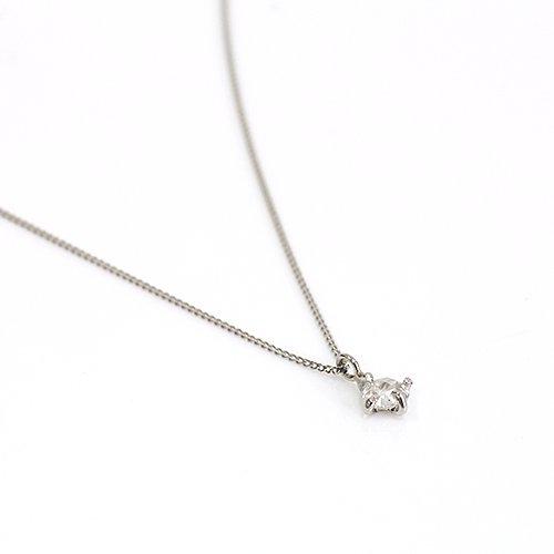 hirondelle et pepin(イロンデールエペパン) / pt900 pn-29 クロス留めローズカットダイヤ ネックレス
