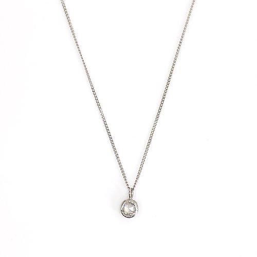 hirondelle et pepin(イロンデールエペパン) / pt900 pn-31 ローズカットダイヤ ふくりん ネックレス