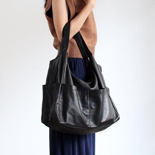 SEASIDE FREERIDE(シーサイドフリーライド) / B BAG ジッパー付き フロントポケット レザーバッグ