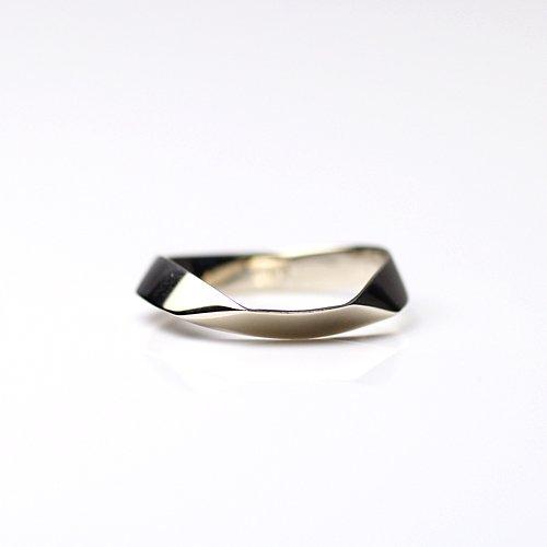 uM(ユーム) / um-fmR03_10WG k10 folding metal カーブリング - ホワイトゴールド