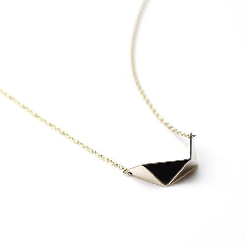 uM(ユーム) / um-fmR01_10WG folding metal ネックレス - ホワイトゴールド