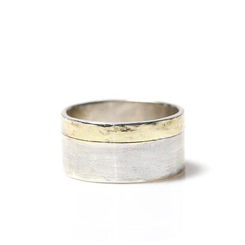 【廃番商品】hirondelle et pepin(イロンデールエペパン) / k18 silver sr-10 プレートリング 10 L