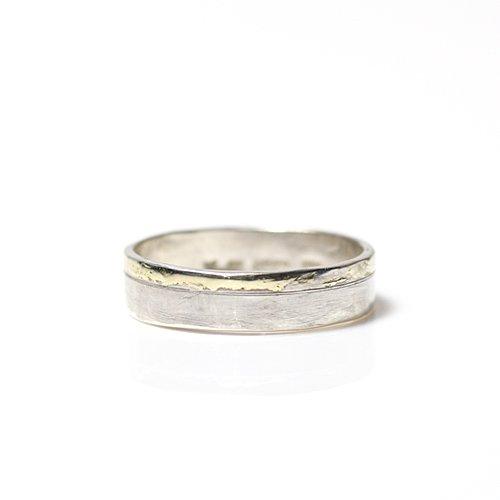 【廃番商品】hirondelle et pepin(イロンデールエペパン) / k18 silver sr-09 プレートリング 09 M