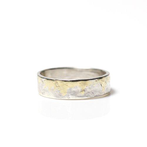 【廃番商品】hirondelle et pepin(イロンデールエペパン) / k18 silver sr-07 プレートリング 07 M