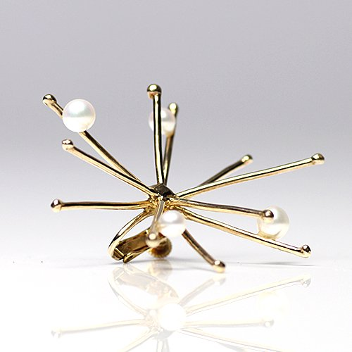 Lamie(ラミエ) / 00100E spark_L_GD / パール付 スパークイヤリング L - ゴールド (片耳タイプ)