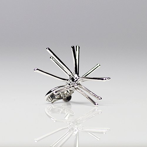 Lamie(ラミエ) / 00105E spark_M_SV / スパークイヤリング M - シルバー (片耳タイプ)