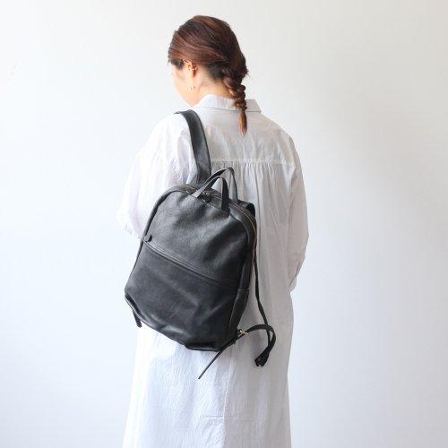 Ense(アンサ) / ruck sack  レザーリュックサック pens312 - ブラック