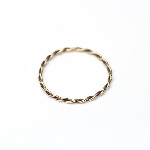 YUKO SATO / twist ring K10 ツイストリング