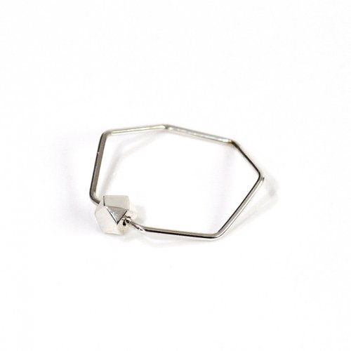 siki(シキ) / silver 七角形とカケラのリング シルバー / SK-R25-SV
