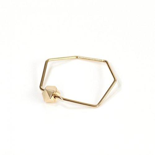 siki(シキ) / K18 七角形とカケラのリング ゴールド / SK-R25-K18
