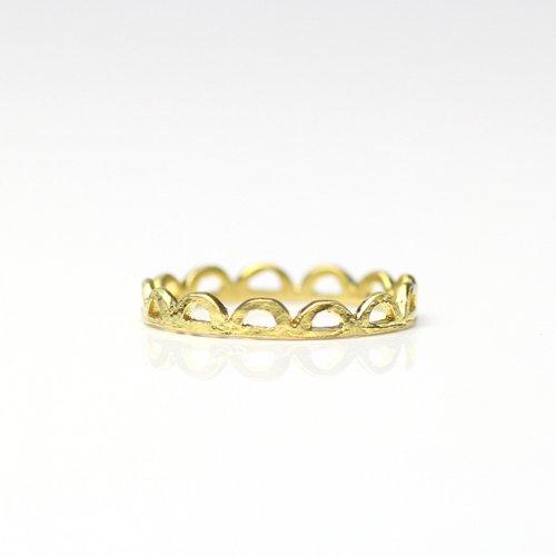 YUKO SATO / すかしリング - 真鍮