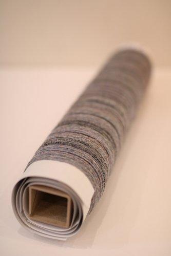 灰の水曜日(グレー系ウールのタテ糸ローラー)ウール200本×6m