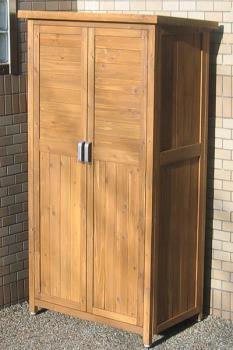 園芸道具の収納に便利♪木製物置 150