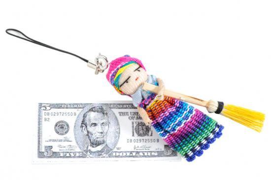 アマラドール人形ストラップ(金運)