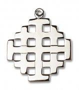 エルサレム 十字架 クロス M ペンダント スターリングシルバー製 【受注発注】