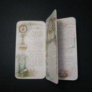 アンティーク ホーリーカード  イエス・キリストと聖心  冊子タイプ