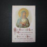 アンティーク ホーリーカード  聖母と聖霊