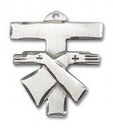 フランシスカン クロス M 十字架 ペンダント スターリングシルバー製 【受注発注】