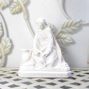 聖女 マグダラのマリア 聖像 白 卓上 置物 雑貨