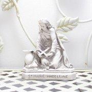 聖女 マグダラのマリア 聖像 グレイ 卓上 置物 雑貨