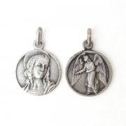 聖アンナと守護天使のメダイ  ヴィンテージ デッドストック