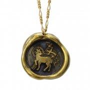神の子羊 ワックスシール ペンダント 真鍮 アニュス・デイ 【The Sacred Secret Original Jewelry】