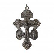 贖罪の十字架 不思議のメダイと聖ベネディクトのメダイ クロスペンダント ガンメタル
