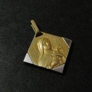 リジューのテレーズ ゴールドFIX ヴィンテージメダイ 小さき花のテレジア