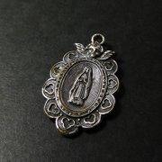 ルルドの聖母 アンティークメダイ 天使