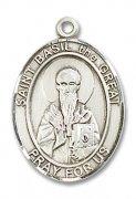 カエサレアの聖バシリウス メダイ L/M/S スターリングシルバー製 ペンダント 【受注発注】