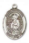 驚くべき聖クリスティーナ メダイ L/M/S スターリングシルバー製 ペンダント 【受注発注】