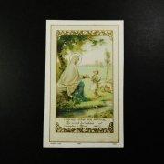 アンティーク ホーリーカード  良き羊飼い 聖母マリア