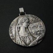 ローマの聖アグネス メダイ アンティーク