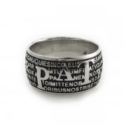 主の祈り ラテン語 リング 指輪   シルバー燻し イタリア製