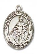 ヴィラノヴァの聖トマス メダイ L/M/S スターリングシルバー製 ペンダント 【受注発注】