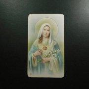 ヴィンテージ ホーリーカード  聖母マリアと御心