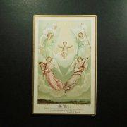 アンティーク ホーリーカード  幼子イエスと天使たち