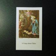 ヴィンテージ ホーリーカード  フィリッポ・リッピ 森の礼拝