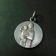 フルヴィエールの聖母子 シルバー  アンティークメダイ