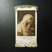 アンティーク ホーリーカード  聖母マリア