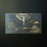 ヴィンテージ ホーリーカード  キリストの磔刑 ヴァチカンと教皇ピウス11世