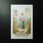 アンティーク ホーリーカード  聖母マリアと三位一体