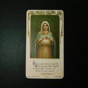 アンティーク ホーリーカード 聖母マリア 御心