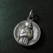 ノートル・ダム・ド・ラ・ぺの聖母と聖フランシスコ アンティークメダイ