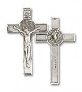 聖ベネディクト クロス 十字架  スターリングシルバー製 ペンダント 【受注発注】