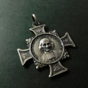 聖ジャン=マリー・ヴィアンネ 聖母マリア 十字形 アンティーク メダイ