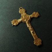 アンティーク フラワー キリスト磔刑 十字架 クロス