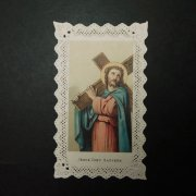 アンティーク ホーリーカード  イエス・キリスト レース
