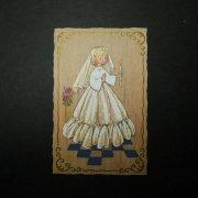 ヴィンテージ ホーリーカード 少女 聖体拝領 1967年