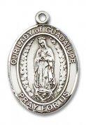 グアダルーペの聖母 メダイ M ペンダント スターリングシルバー製